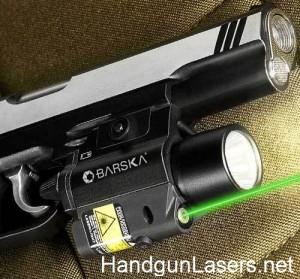Barska Green Laser and Light right side mounted