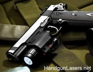 Barska Red Laser and Light Quick Release left side mounted