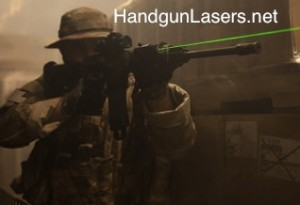 Centerpoint crossman compact green laser attached to rifle