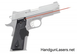 Crimson Trace Pro-Custom Lasergrips 1911 Full Size Carbon Fiber right side