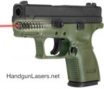 Lasermax Guid Rod Laser Springfield XD 3 inch 9mm and 40 Left Side photo