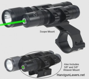 STSLLGCP - Stealth Tactical Green Laser Sight and Flashlight - BSA Optics