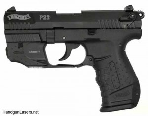 Walther P22 Laser Sight left side