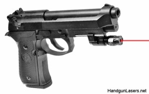 The UTG Sub-Compact mounted on a Beretta.