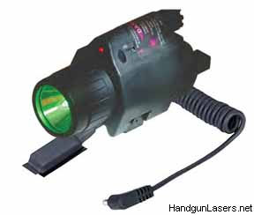 The Illuminated Laser Sight with the green lens.